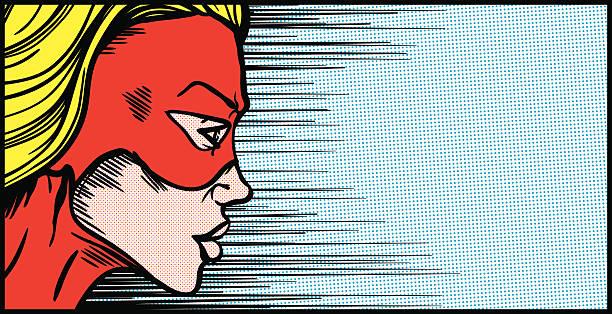 weibliche superheld gesicht profil - superwoman stock-grafiken, -clipart, -cartoons und -symbole
