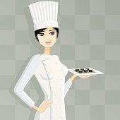 Female Sushi Chef