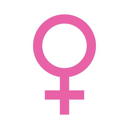 Female Symbol on Transparent Background