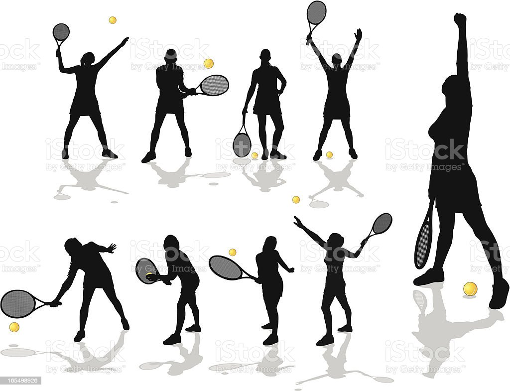 Female tennis players royalty-free female tennis players stock vector art & more images of adult