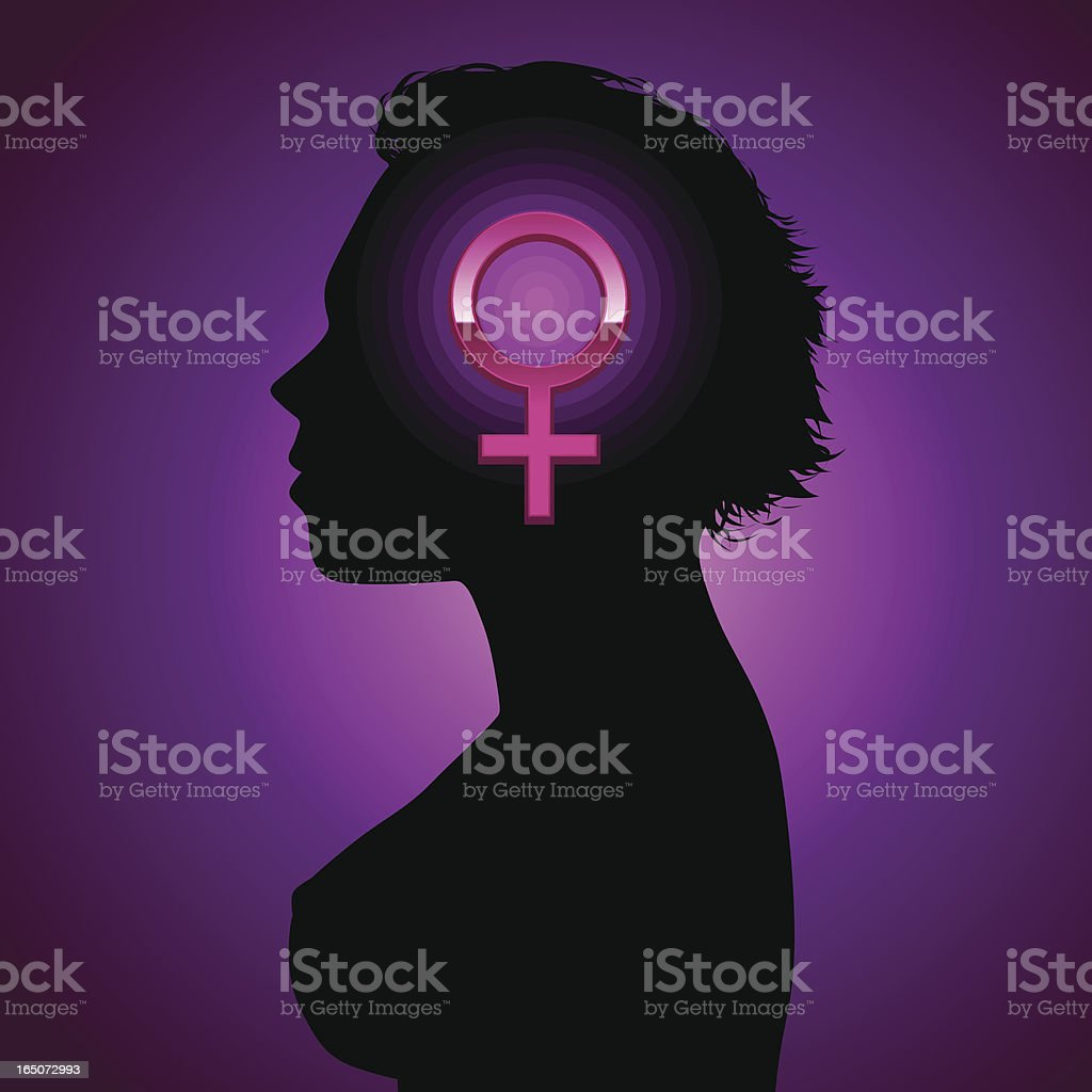 Female thoughts royalty-free stock vector art