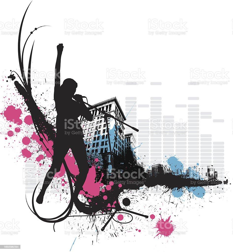 Female Urban Singer royalty-free female urban singer stock vector art & more images of adult