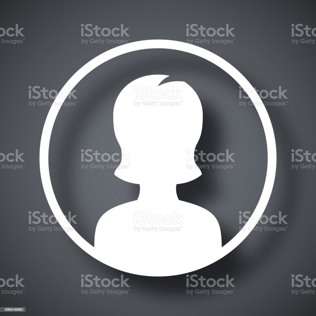 Female user icon, vector illustration royalty-free female user icon vector illustration stock vector art & more images of adult