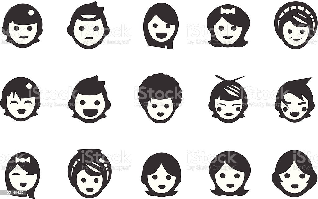 Female User Icons royalty-free stock vector art