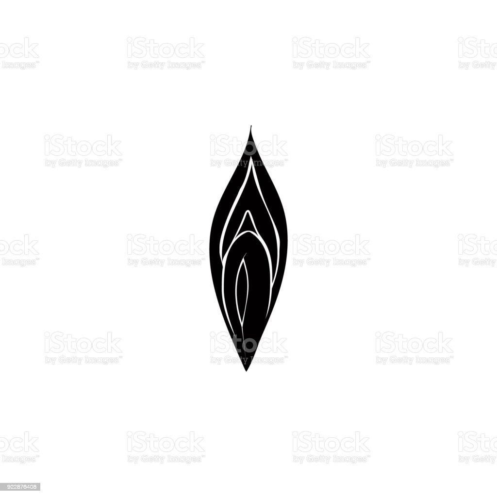 Symbol Der Weiblichen Vagina Detaillierte Symbol Der Teile Des ...