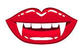 Female vampire lips