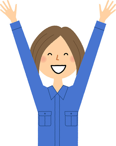Female Worker Cheers Stock Illustration - Download Image Now