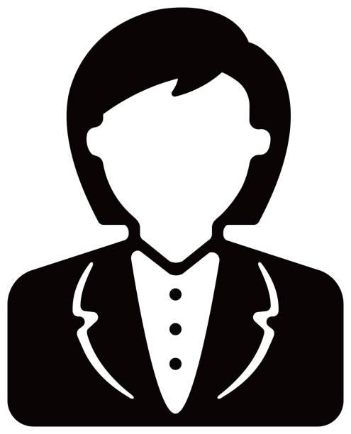 女性社員、女性ビジネスパーソン/アバターアイコンイラスト(上半身) - オペレーター 日本人点のイラスト素材/クリップアート素材/マンガ素材/アイコン素材