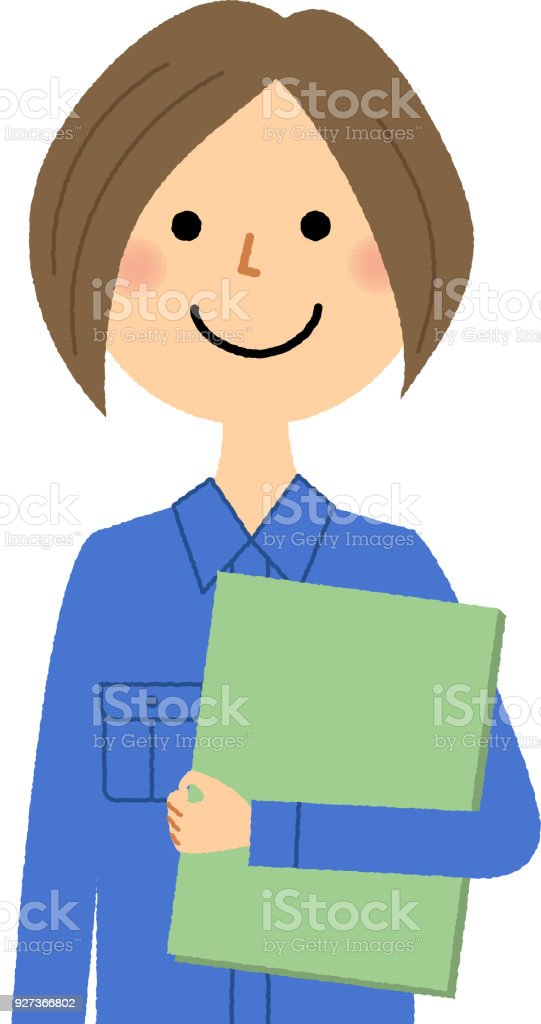 Female worker, File - Royalty-free Adult stock vector