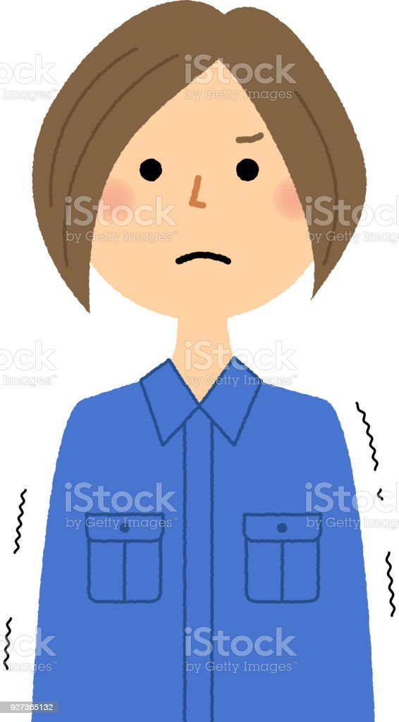 Female worker, Regrettable - Royalty-free Adult stock vector
