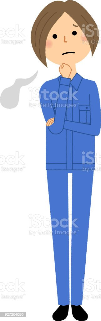 Female worker, Sigh - Royalty-free Adult stock vector