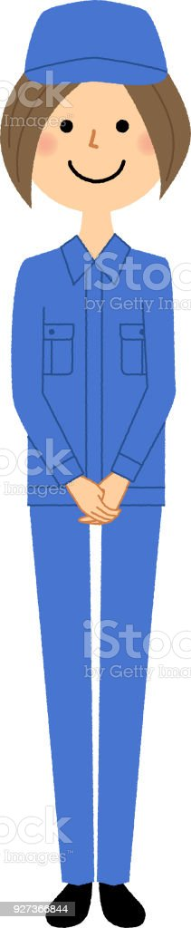 Female worker - Royalty-free Adult stock vector