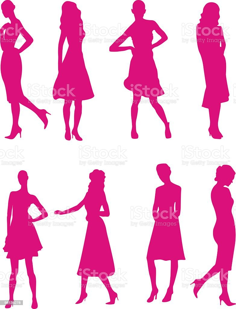 Females royalty-free females stock vector art & more images of adult