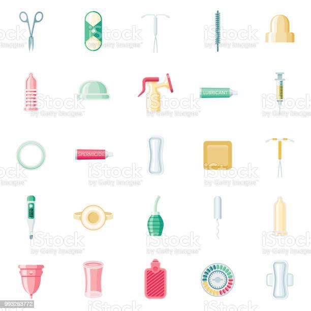 Feminine Pflegeflaches Designiconset Stock Vektor Art und mehr Bilder von Antibabypille