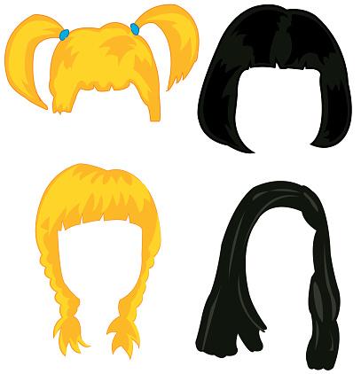 Feminine hairstyles wigs