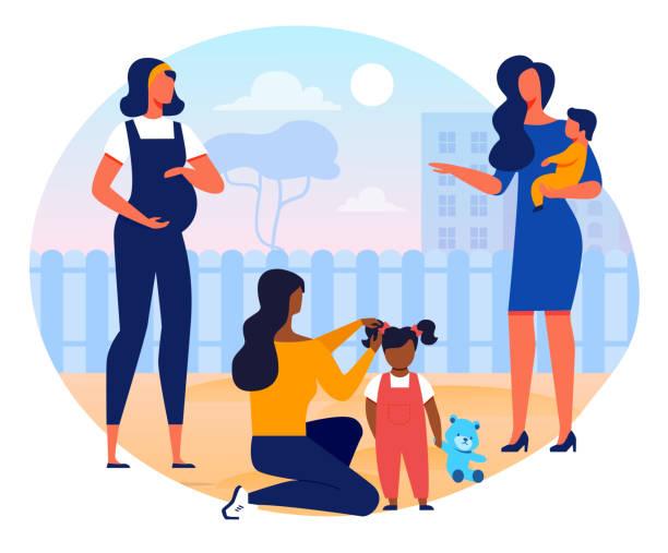 フェミニンな幸福、母性ベクトルイラスト - 保育点のイラスト素材/クリップアート素材/マンガ素材/アイコン素材