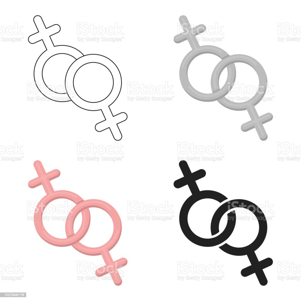 Feminine icon cartoon. Single gay icon from the big minority, homosexual cartoon. vector art illustration