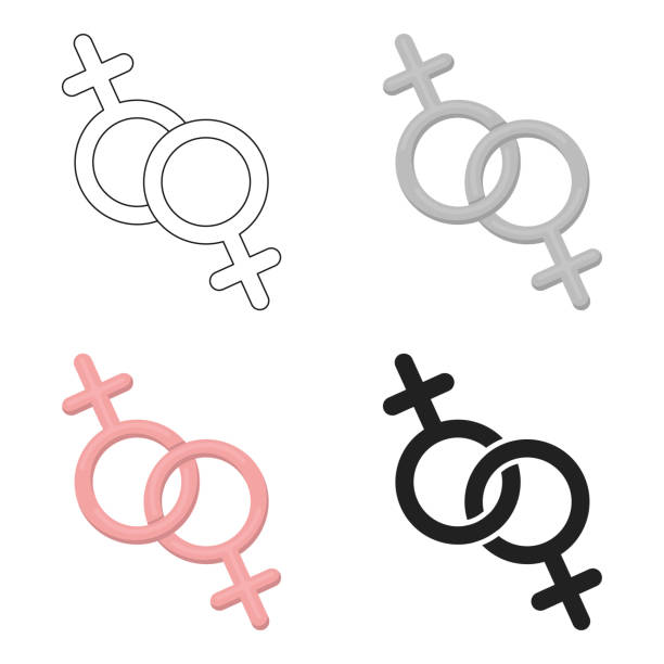 feminine icon cartoon. single gay icon from the big minority, homosexual cartoon. - minority stock illustrations, clip art, cartoons, & icons