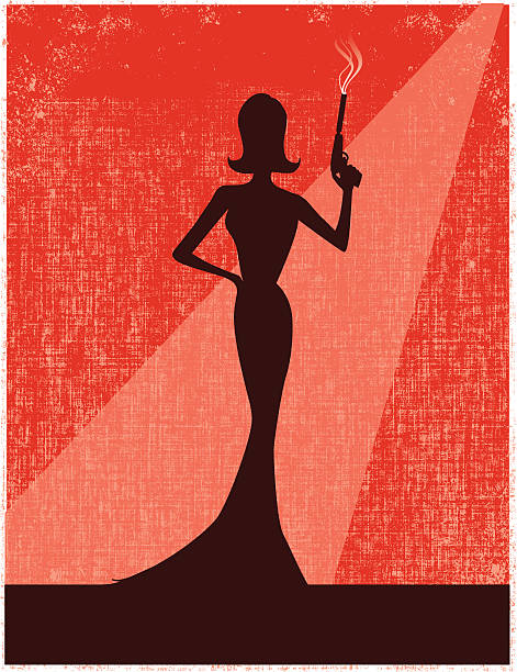 femme fatale vector art illustration