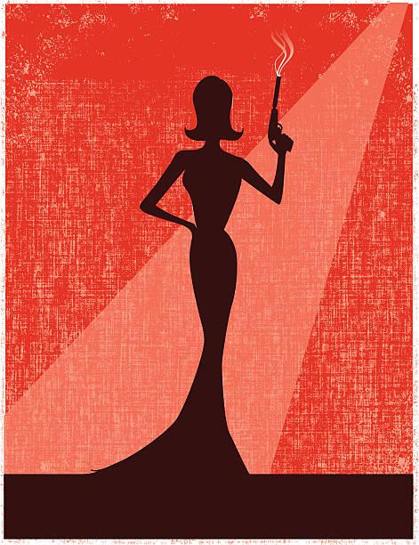 femme fatale - heather mcgrath stock illustrations