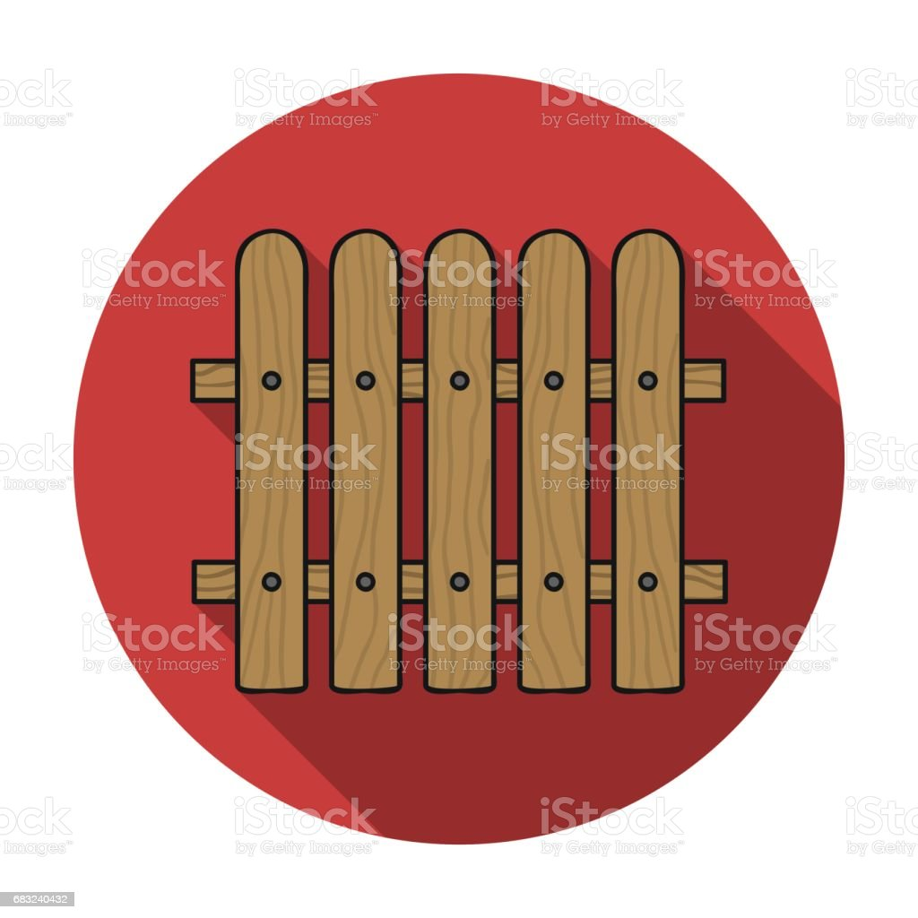 Fence icon in flat style isolated on white background. Sawmill and timber symbol stock vector illustration. 免版稅 fence icon in flat style isolated on white background sawmill and timber symbol stock vector illustration 向量插圖及更多 分離 圖片