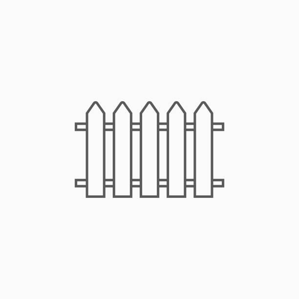 stockillustraties, clipart, cartoons en iconen met hek icoon - hek