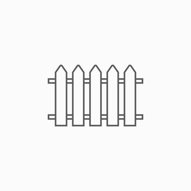 zaun-symbol - zaun stock-grafiken, -clipart, -cartoons und -symbole