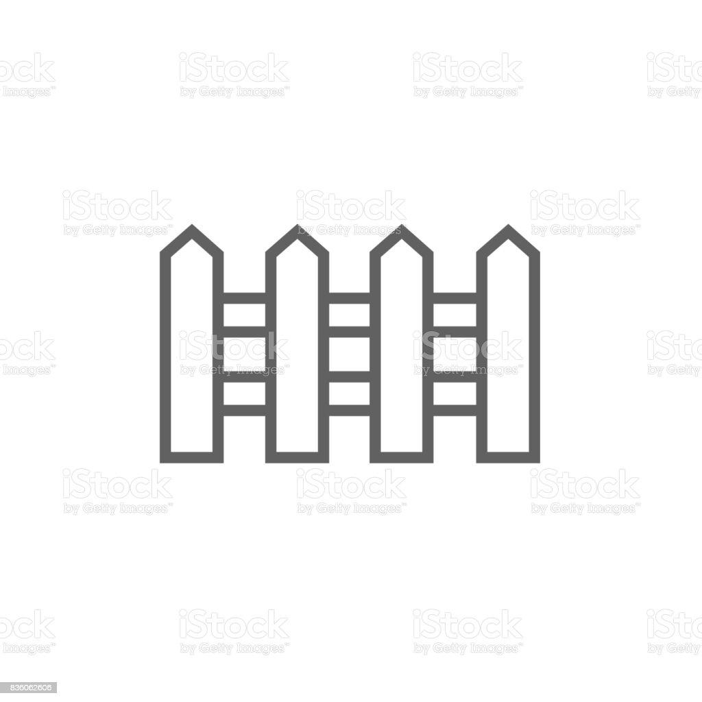 Zaun Linieicon Stock Vektor Art und mehr Bilder von Architektur ...