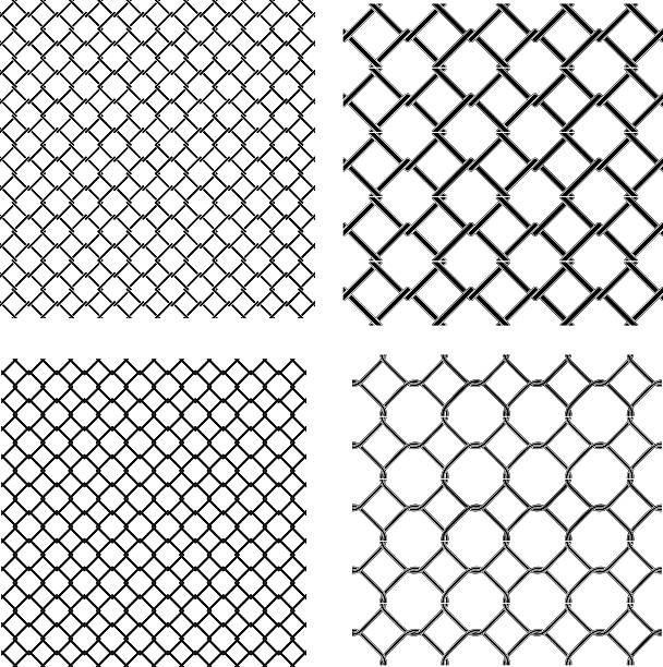 Best Chainlink Fence Illustrations, Royalty-Free Vector