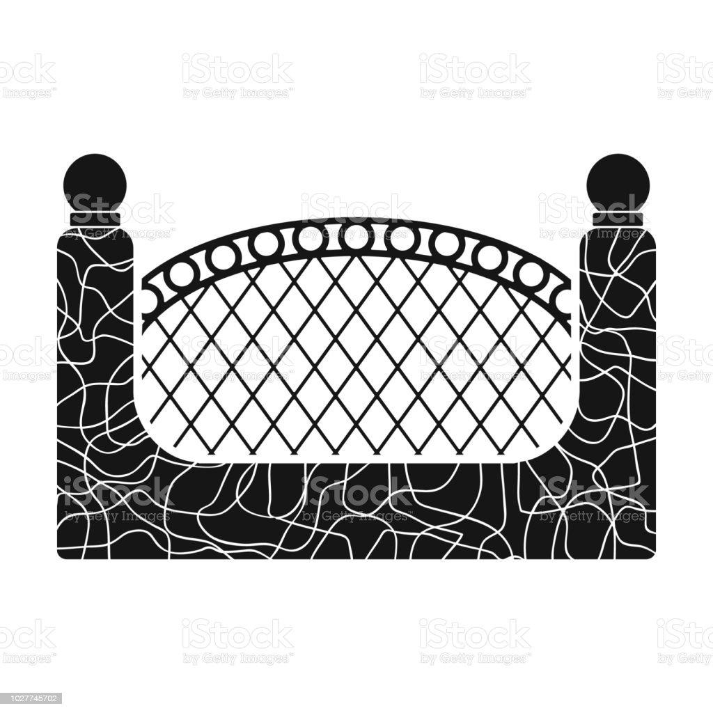 Ein Zaun Aus Metall Und Ziegeln Ein Andere Zaun Einzelnes Symbol Im