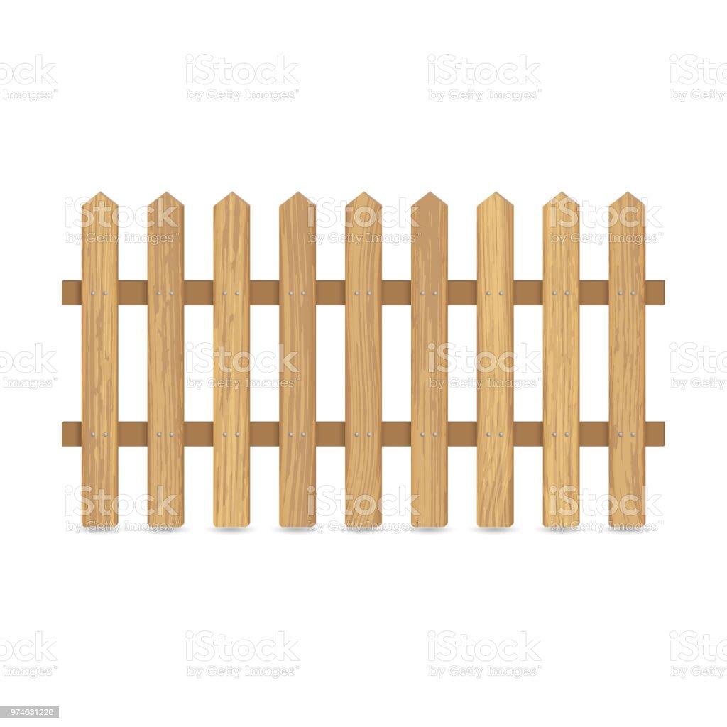 Zaun Aus Holzbrettern Stock Vektor Art Und Mehr Bilder Von