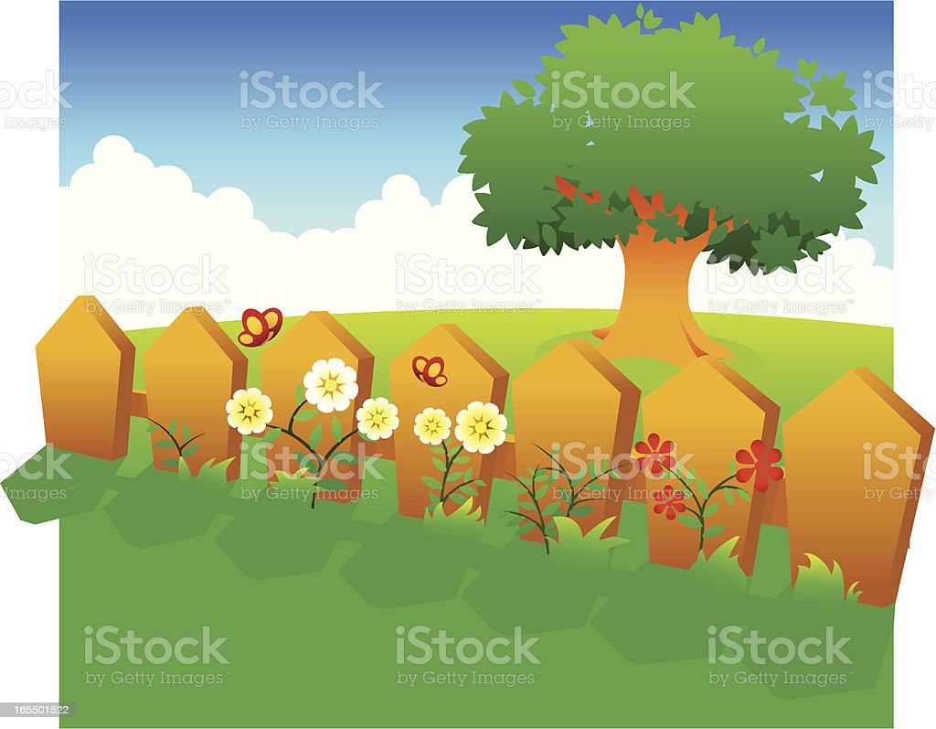 Fence royalty-free fence stock vector art & more images of backgrounds