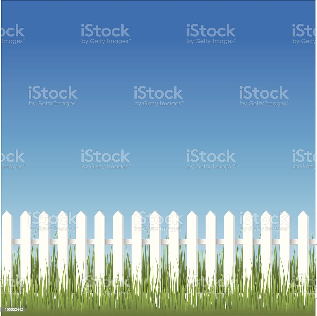 Fence vector art illustration