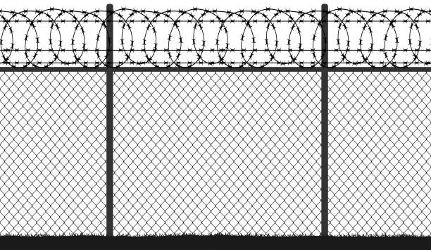 Barbed Wire Illustrations Royalty Free Vector Graphics
