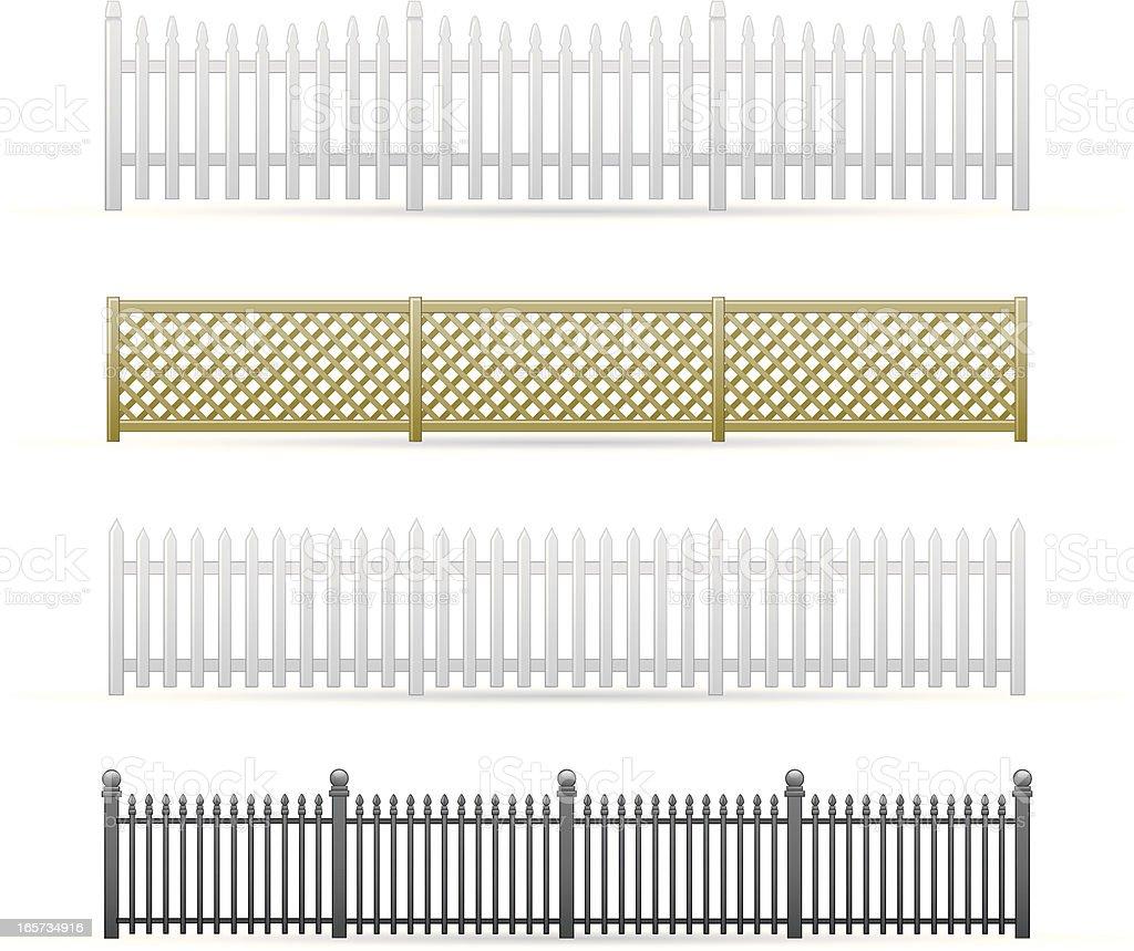 Fences vector art illustration