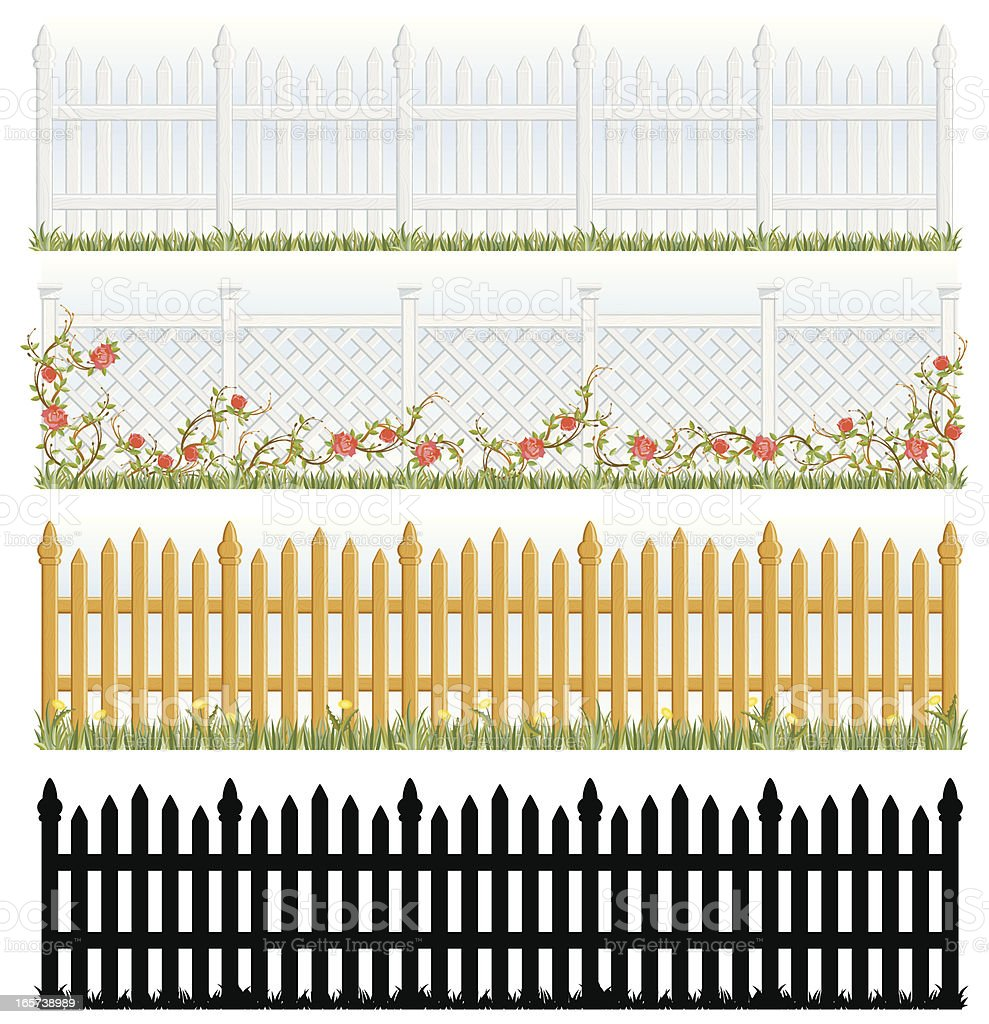 Fences royalty-free stock vector art