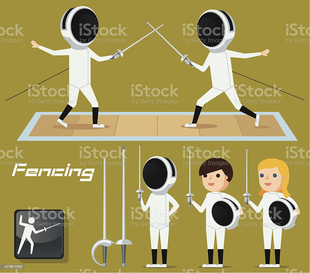 Fencing royalty-free stock vector art