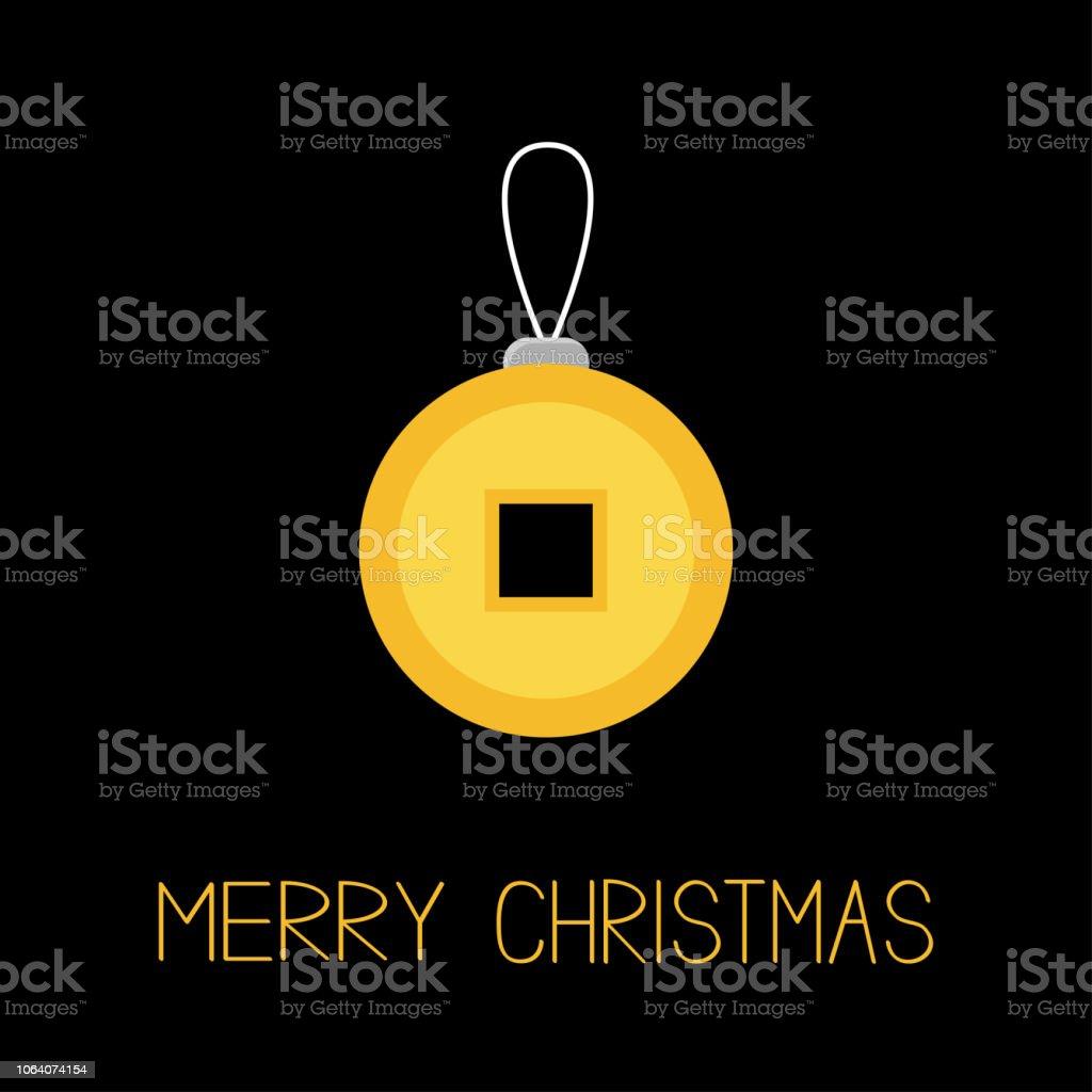 Fengshui Chinesische Münze Mit Loch China Gold Geld Merry Christmas