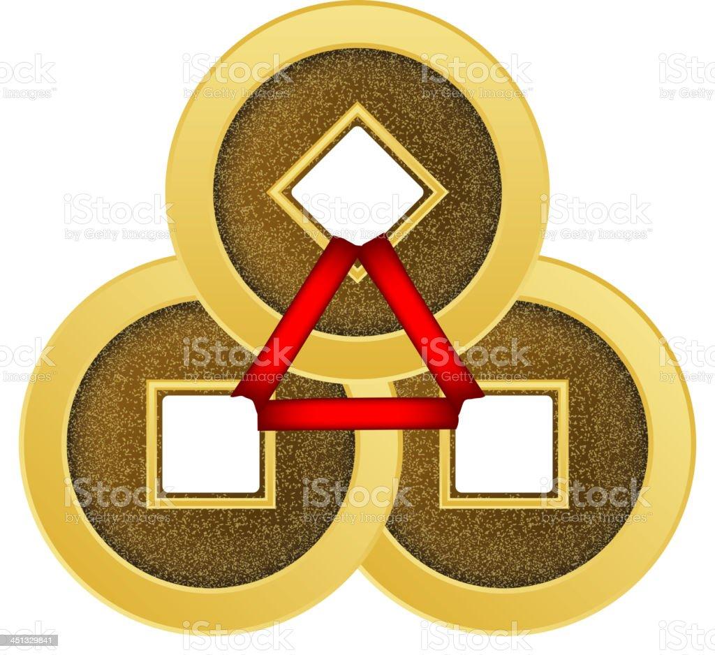 Goldmünzen Feng Shui Stock Vektor Art Und Mehr Bilder Von Alt