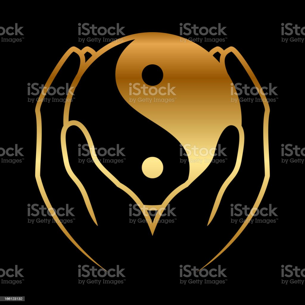 feng shui icon vector art illustration