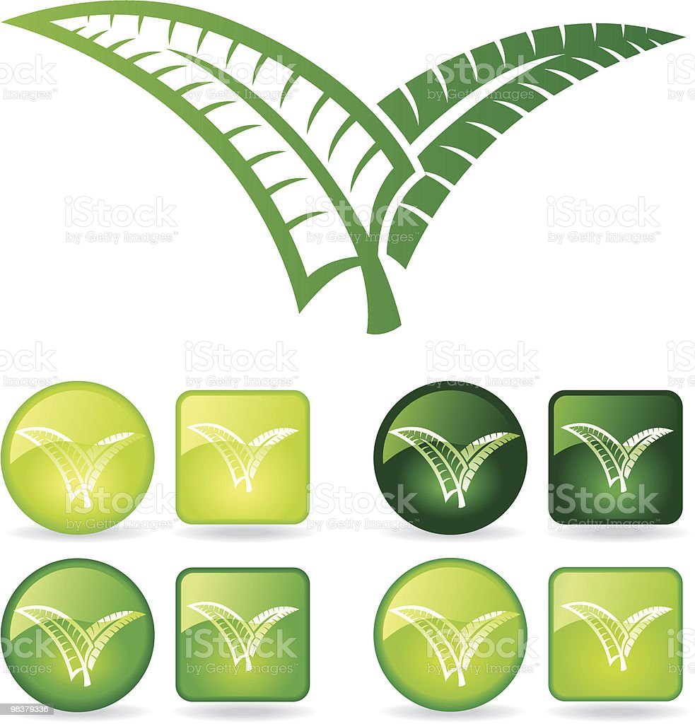 Fern fronds royalty-free stock vector art