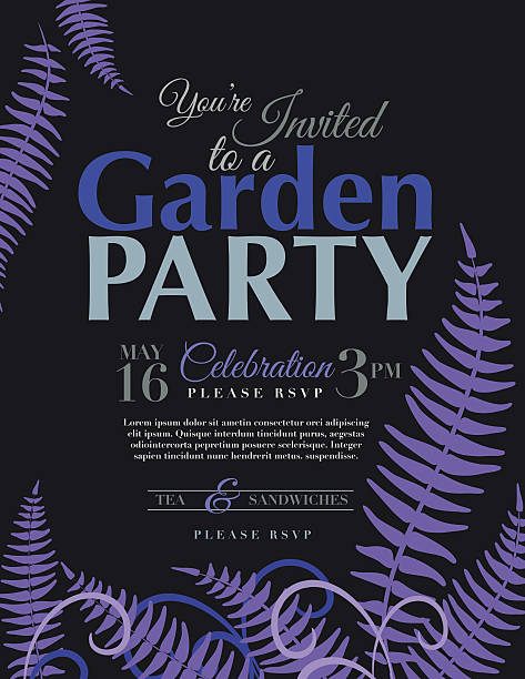ferns garden party invitation template stock vector art 496619835