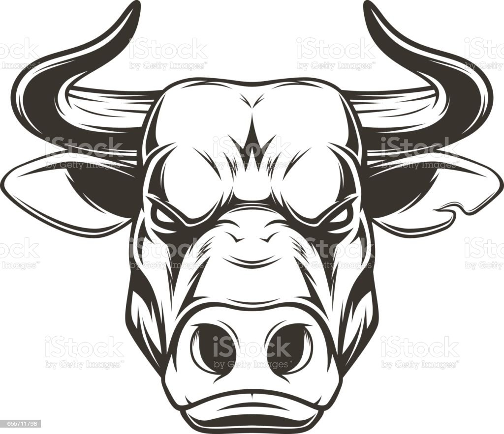 It's just a photo of Comprehensive Bull Head Drawing