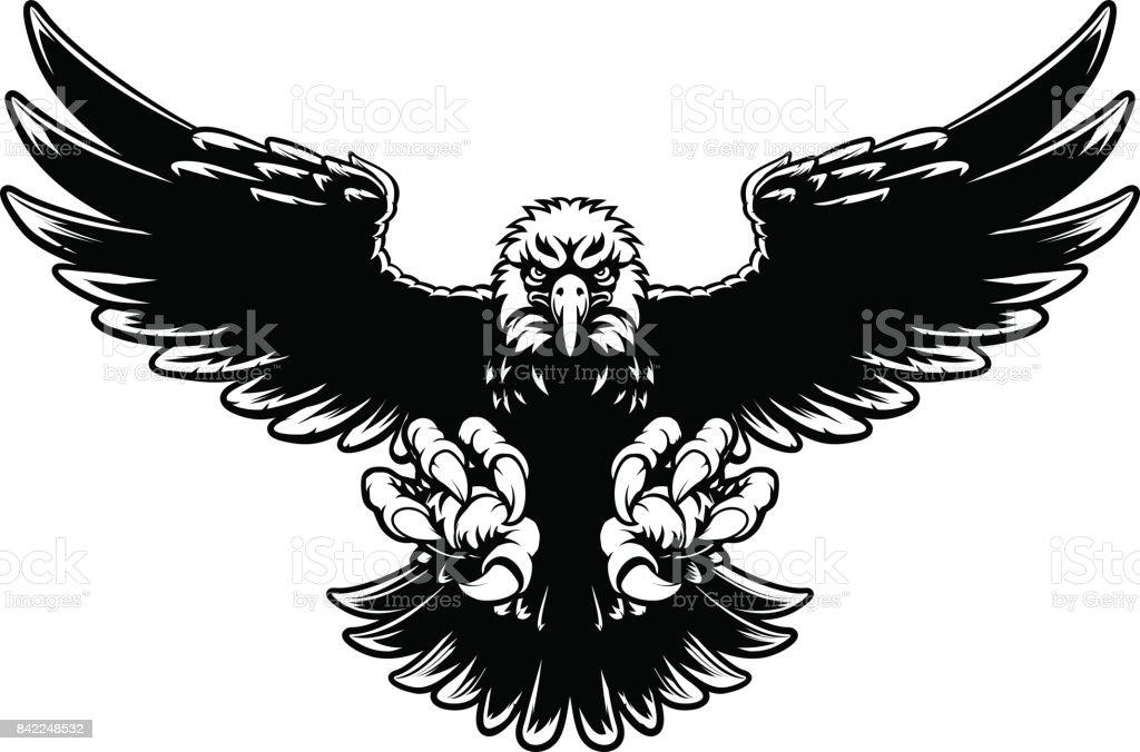 Ferocious Eagle Mascot vector art illustration