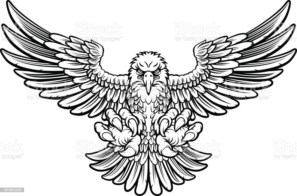 ferocious eagle stock vector illustration of clipart