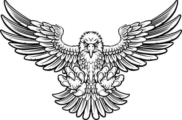 凶暴なワシ - 鳥のタトゥー点のイラスト素材/クリップアート素材/マンガ素材/アイコン素材