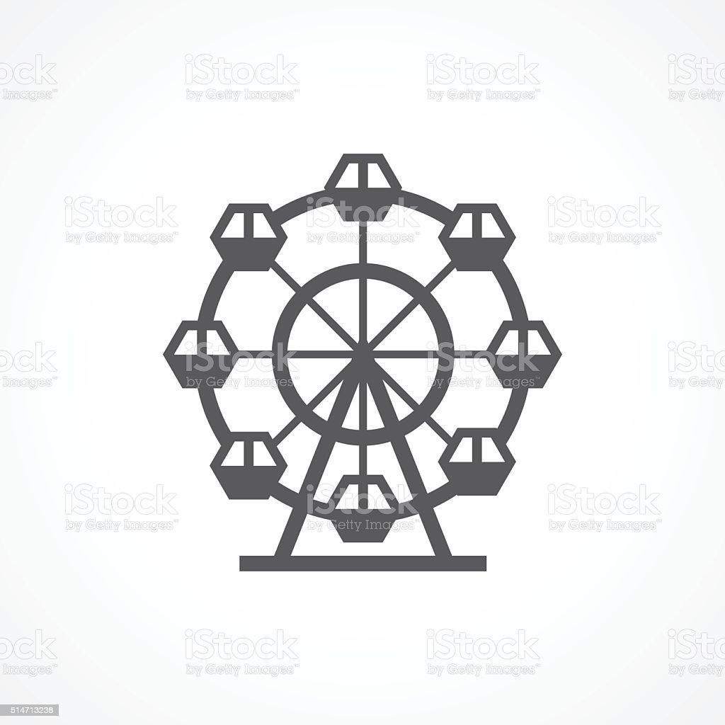 Ferris Wheel Icon vector art illustration