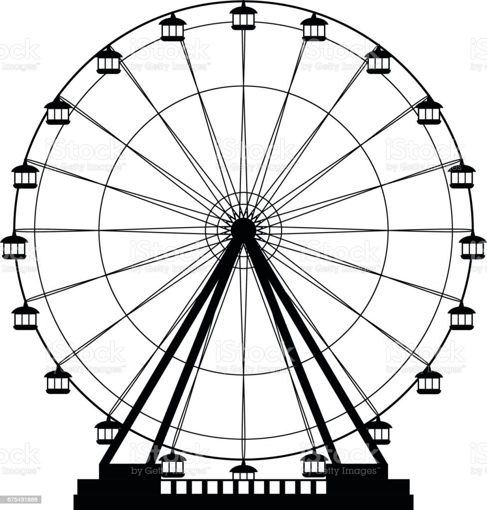 Ferris Wheel Icon Stock Vector Art & More Images of ...