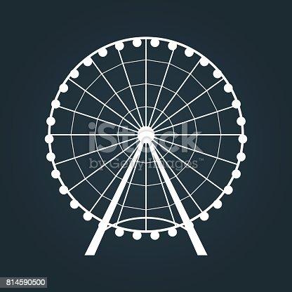 Ferris Wheel icon. Vector illustration.
