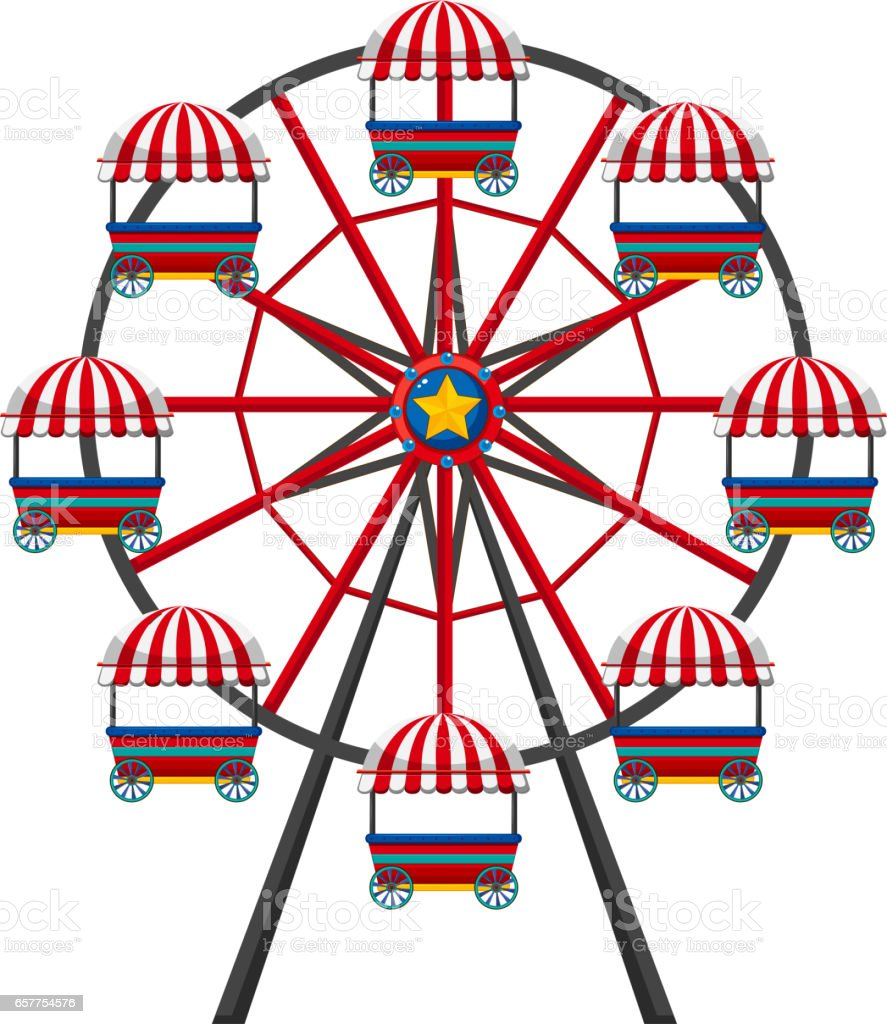 ferris wheel on white background stock vector art more images of rh istockphoto com cartoon ferris wheel clipart ferris wheel clipart